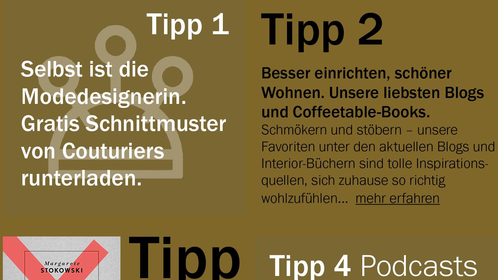 IN KÜRZE – Weiterführende Anregungen zum Thema Wohnen und Homeoffice