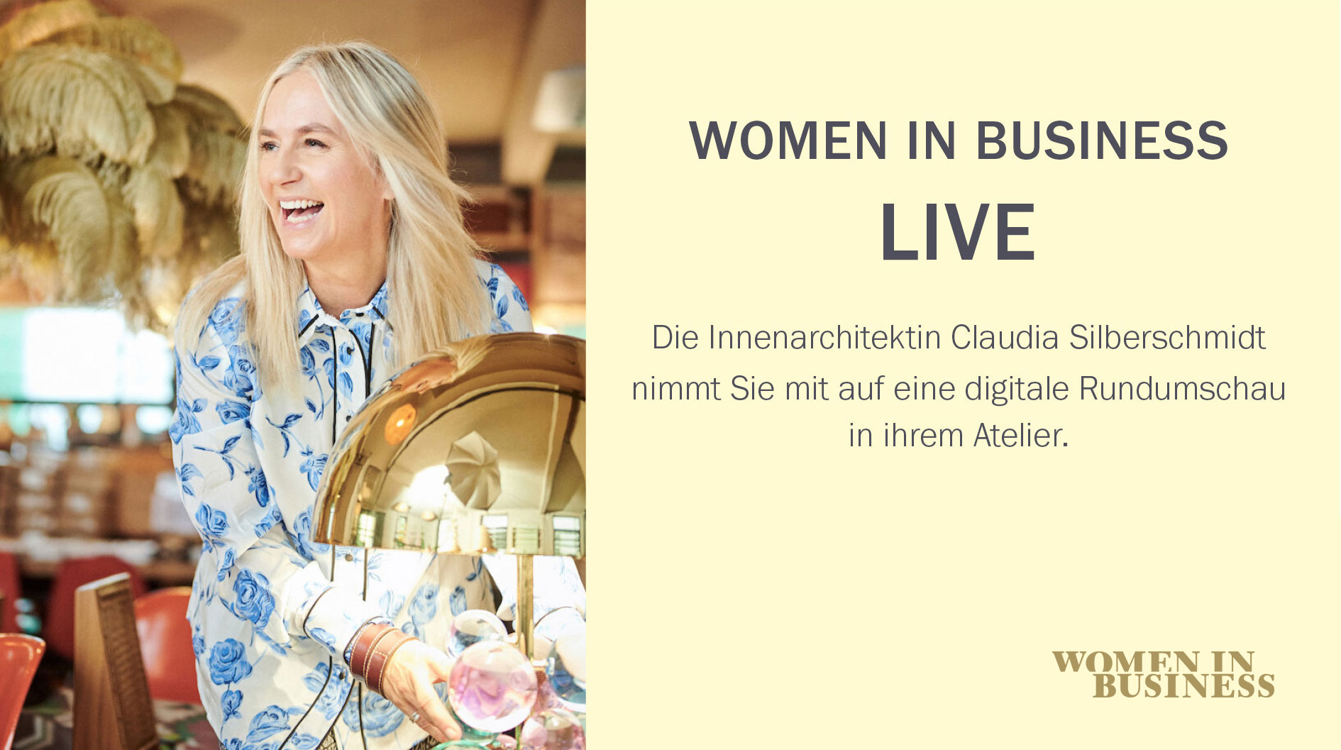 WOMEN IN BUSINESS LIVE mit Claudia Silberschmidt