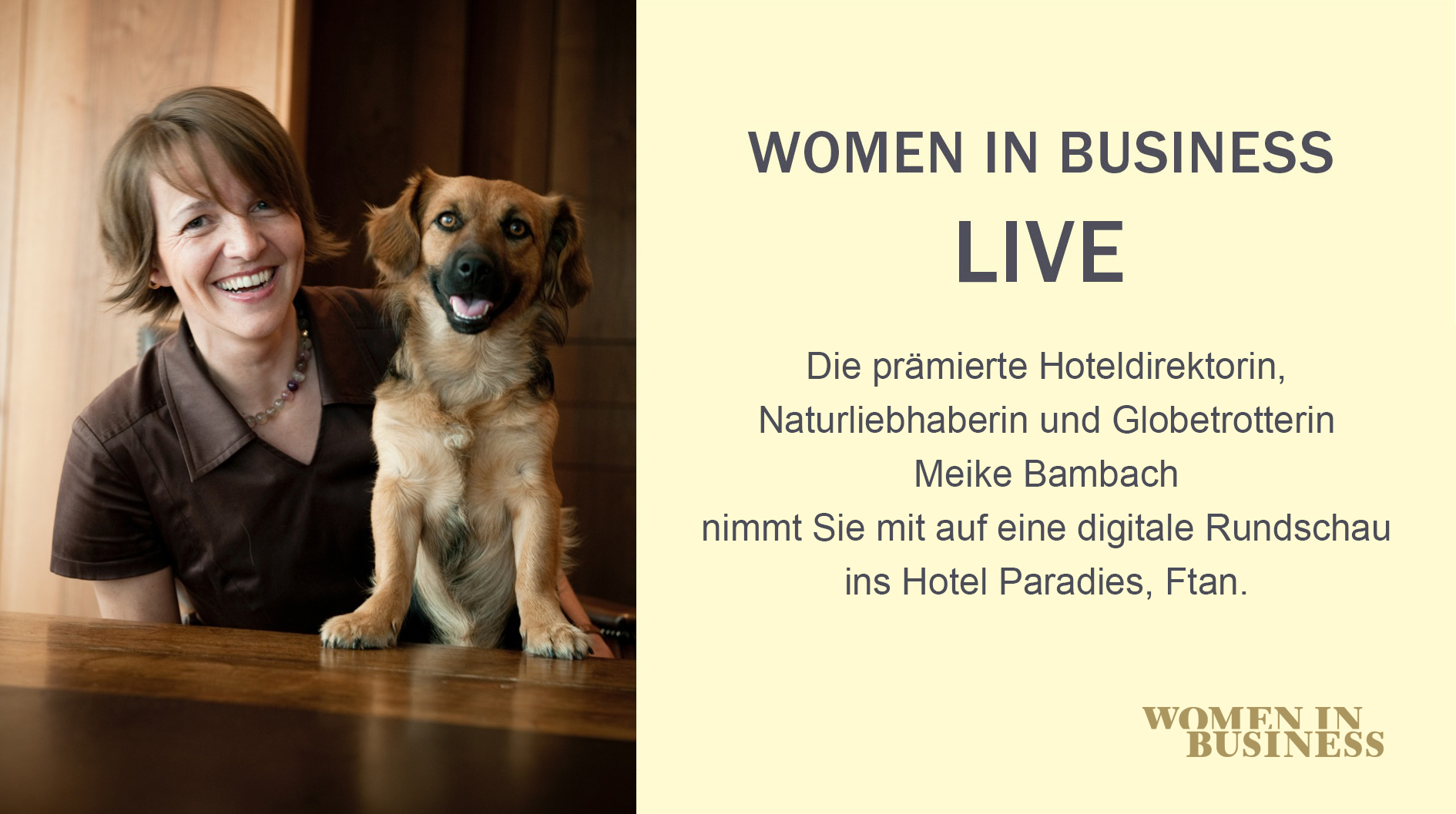 WOMEN IN BUSINESS LIVE mit Meike Bambach