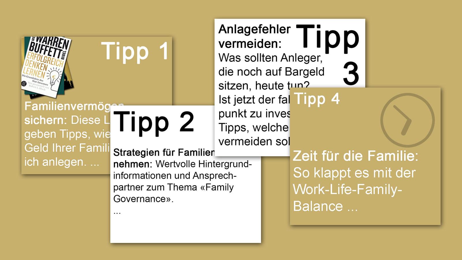 IN KÜRZE – Tipps zum Thema Familienvermögen
