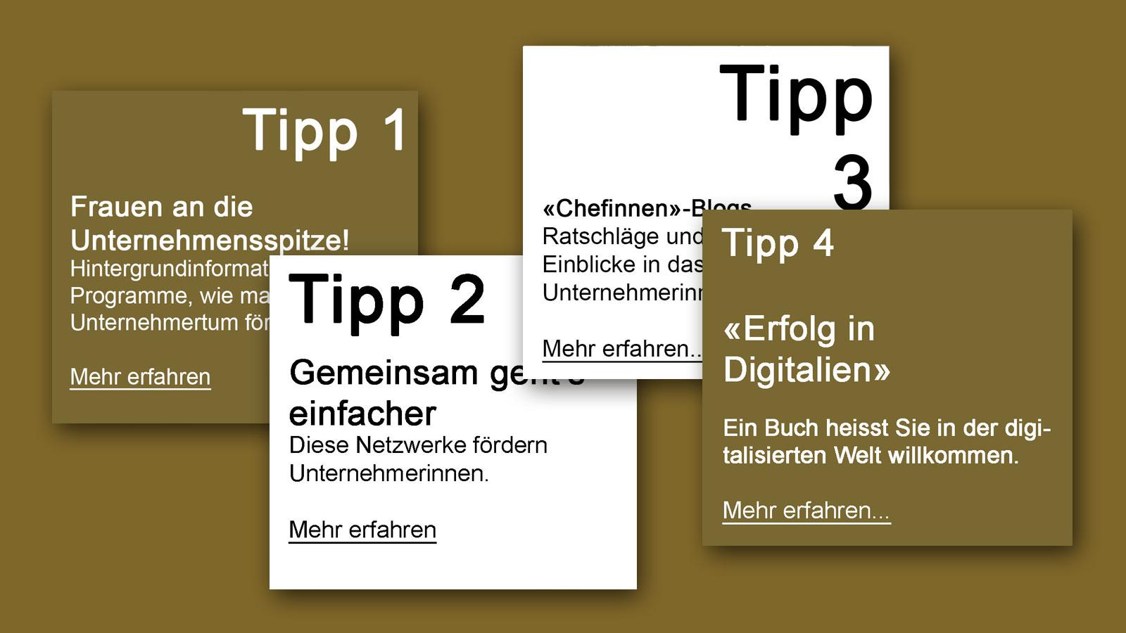 IN KÜRZE – Tipps zum Thema Frauenunternehmen